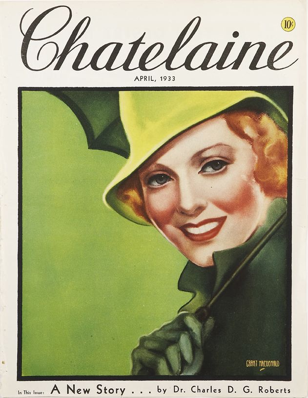 Chatelaine cover, April 1933